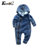 Kimocat New High Quality Spring And Autumn Lucky No 7 Fashion Newborn Baby Ropmer Cartoon Long