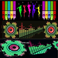 Car Sticker Music Rhythm LED Flash Light Lamp Voice-activated Equalizer Car Styling