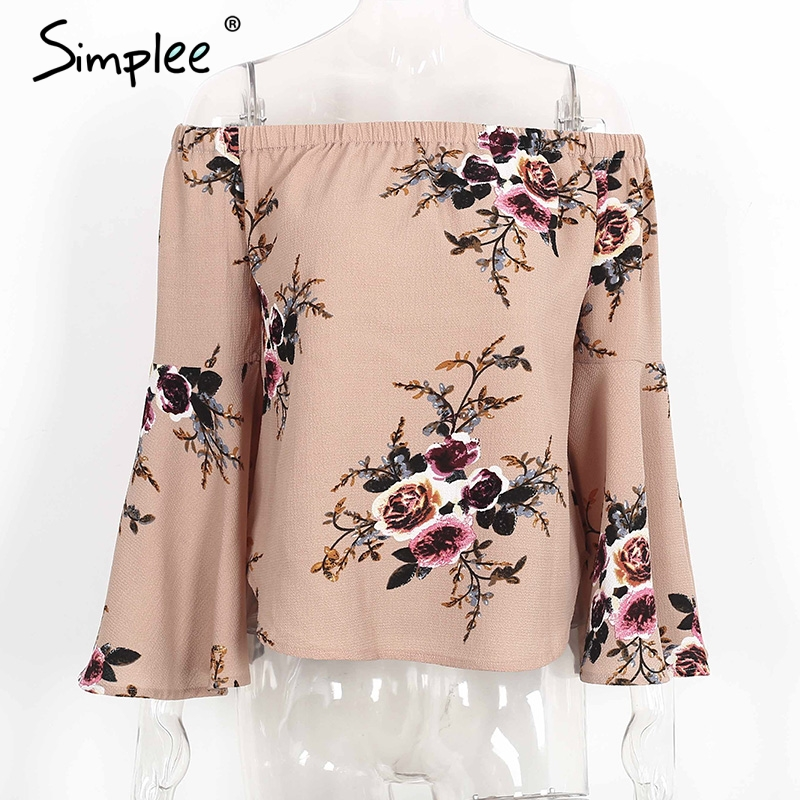 HTB1TrQKPXXXXXc8XVXXq6xXFXXXO - Simple Off shoulder chiffon blouse shirt women Sexy summer