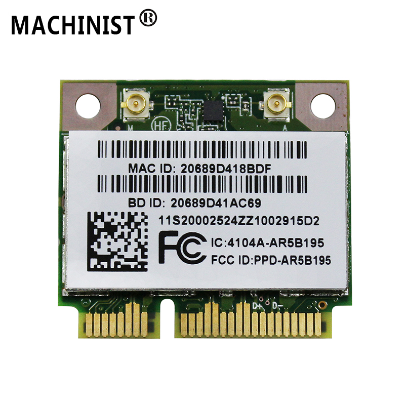 Wireless Network Cards Bluetooth For  Lenovo Y470 Y570 Y480 Y580 G480 G580 G585 Z380 Z480 AR5B195 Laptop Network Card 20002524