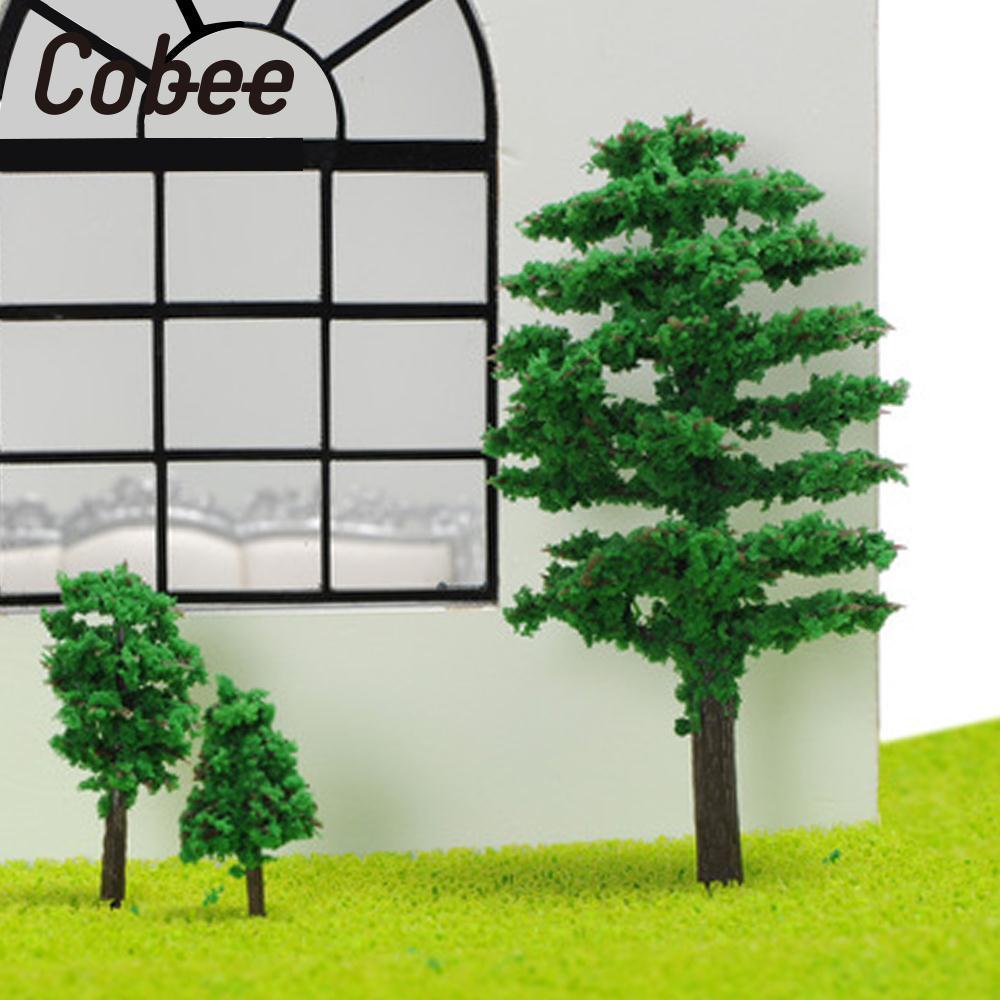 Cobee 8CM Model Tree Trunks Landscape Railway Road Park Micro Landscape Vivid Display