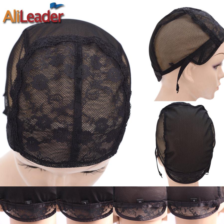 Alileader Best Wig Caps With Adjustable Straps Small Wig Net Cap Weaving Caps XL L M S 52-58 CM Double Lace Net Glueless Wig Cap стоимость