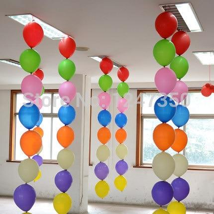 unids multicolor pulgadas cola del banquete de boda de ltex globos de cumpleaos decoracin