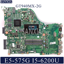 KEFU DAZAAMB16E0 Laptop motherboard for Acer Aspire E5-575G original mainboard I5-6200U/7200U GT940MX