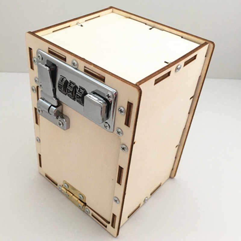 Happyxuan รหัสผ่านกล่อง DIY เด็กวิทยาศาสตร์โครงการโรงเรียนการทดลองชุด Boy ฟิสิกส์สนุกของเล่นการประดิษฐ์นวัตกรรม STEM Education