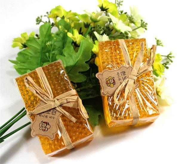 100g Honey Kojic Acid Soap Handmade Whitening Soap Peeling Glutathione Arbutin Bath Body Deep Cleaning Soap Skin Care Bath Tool 1