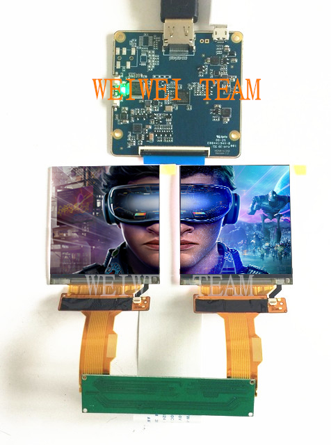 HIDMI to MIPI board 2.9 inch 1440*1440 dual screen TFT LCD display panel for 3D VR Glasses headsetHIDMI to MIPI board 2.9 inch 1440*1440 dual screen TFT LCD display panel for 3D VR Glasses headset
