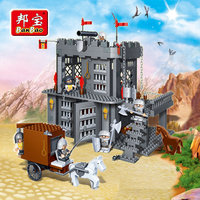 BanBao Castle Educational Building Blocks Toys For Children Kids Gifts Super Hero Horses Carriage Weapons Stickers