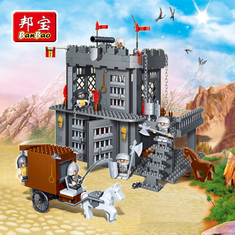 BanBao Castle Educational Building Blocks Toys For Children Kids Gifts Super Hero Horses Carriage Weapons Stickers чехол it baggage для планшета asus memo pad 7 me176 искуственная кожа черный itasme1762 1