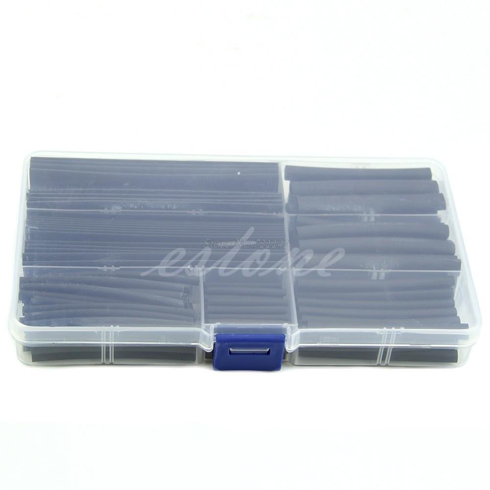 150pcs 2:1 Halogen-Free Tubazione Tubo Termoretraibile Wrap Maniche Guaina del Cavo di Legare Dropship