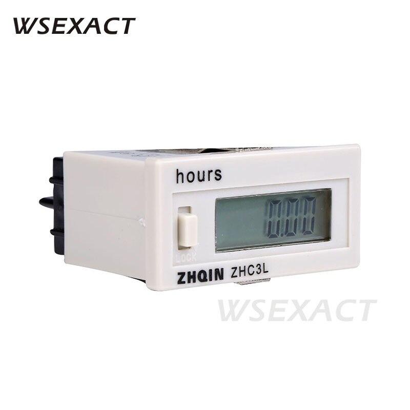 100-220VAC 4-30VDC Counters Hours 6 Digit Digital Counts 0-999999 48*24mm 99999.9h 99h59m59s 9999h59m 9999d23h ZHC3L DHC3L