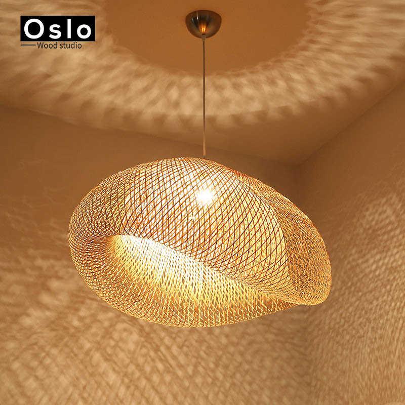 Бамбуковый фонарь Чай номер светильник люстра новый китайский E27 люстра-фонарь Юго-Восточной Азии, Стиль японский садовый фонарь