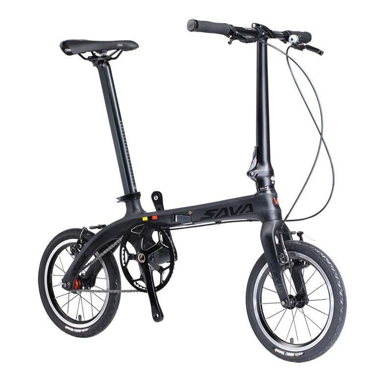 Sava bicicleta plegable Bicicletas 14 pulgadas carbono Fibra Marcos ...