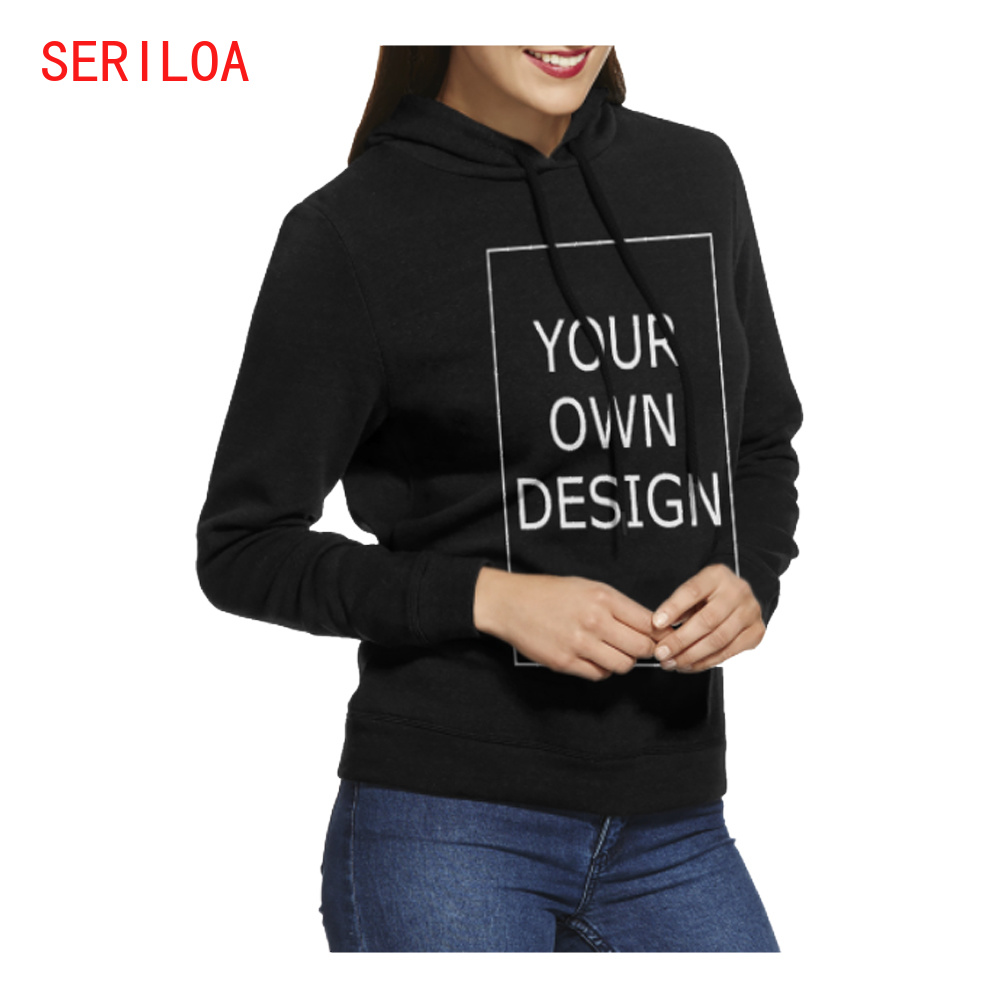 Custom Women Polluver Sweatshirt Hoodies Personalized Free Print LOGO/TEXT/PHOTO