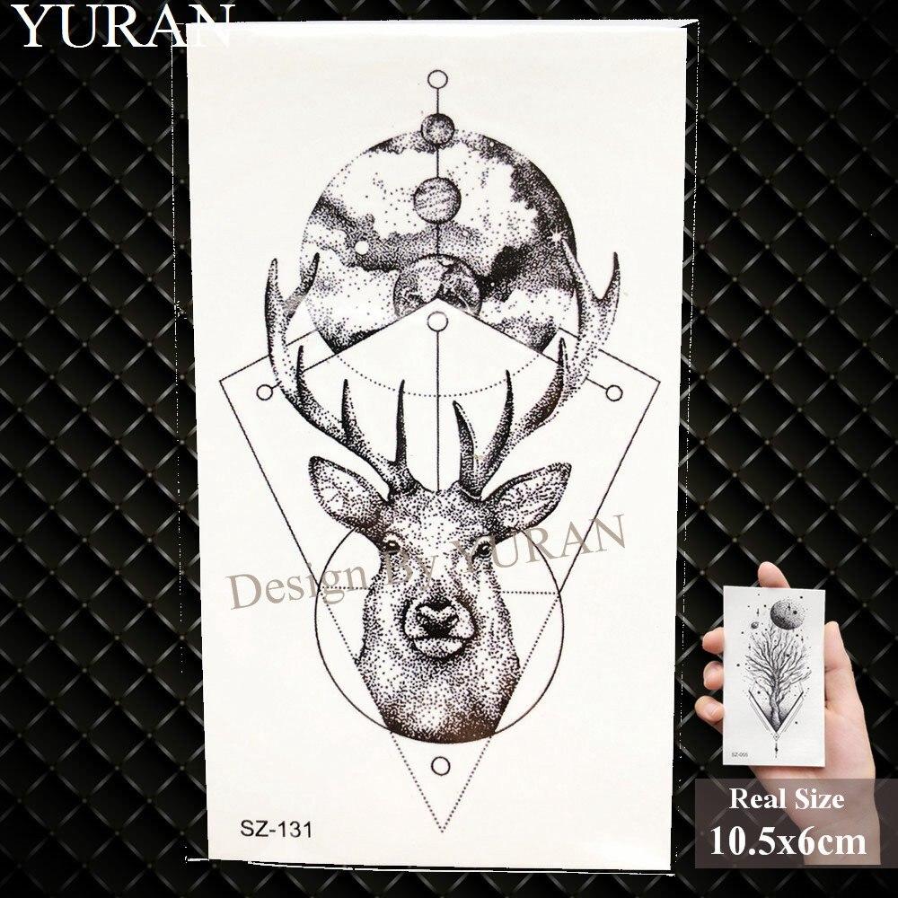 e8c369404 קנו אמנות הקעקוע והגוף | YURAN Geometric Wolf Temporary Tattoo ...
