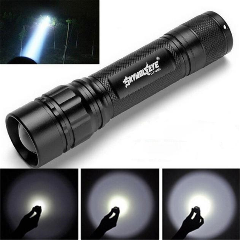 Waterproof Portable Flashlight Lamp LED Zoomable Flashlight 18650 Battery Lanterna Hand Torch Lights linterna #FS#4ST12 super bright flashlight 3 led xhp70 hand torch lamp professional waterproof 18650 battery flash light torch linterna tactica
