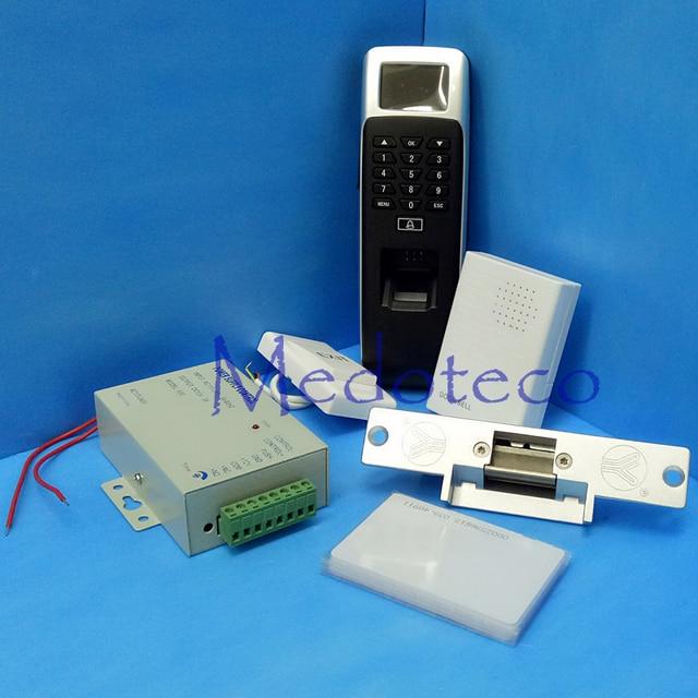 DIY Full Fail Safe NC Strike Door Lock Fingerprint Access Control Kit Full Biometric Door Access Control System