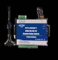 RTU5021 Бесплатная доставка GSM SMS GPRS 3g 4G дистанционный переключатель реле без ограничения расстояния 4 Релейные выходы расписание загрузки