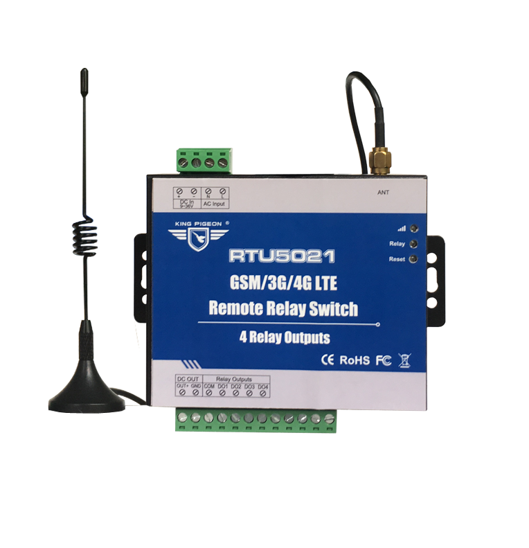 RTU5021 Free Shipping  GSM SMS GPRS 3G 4G Remote Relay Switch No Distance Limitation 4 Relay Outputs Schedule Upload s265 direct factory gsm sms gprs 3g 4g temperature