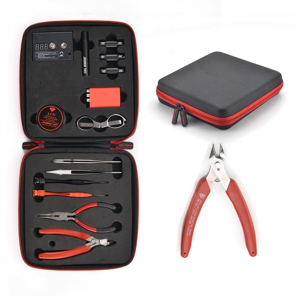13 pcs /set Update Coil Master DIY Kit All-in-One CoilMaster V3+ Electronic Cigarette RDA Atomizer coil tool bag Accessories