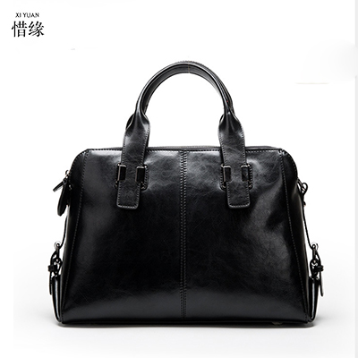 XIYUAN Women spring black Genuine Leather Cowhide Solid Shoulder messenger crossbody Bags Woman Casual Classic Ladies Hand bag