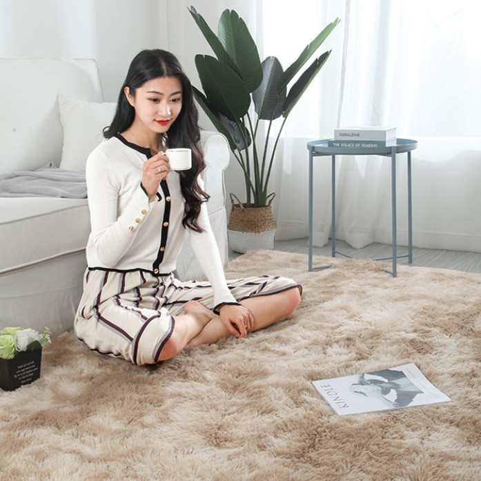 Luxe en peluche fourrure tapis salon doux Shaggy tapis enfants chambre cheveux chambre tapis canapé Table basse tapis de sol moderne grands tapis - 5