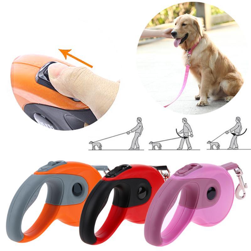 3 M/5 M Automatique Pet Chien Laisses S'étendant De Traction Corde Rétractable Animaux Colliers Laisses de Plomb pour Petit Moyen chiens