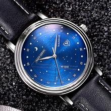 Cielo estrellado YAZOLE 366 Moda Casual Hombre Reloj Relogio masculino Reloj de Pulsera Relojes de pulsera de Cuarzo de Negocios