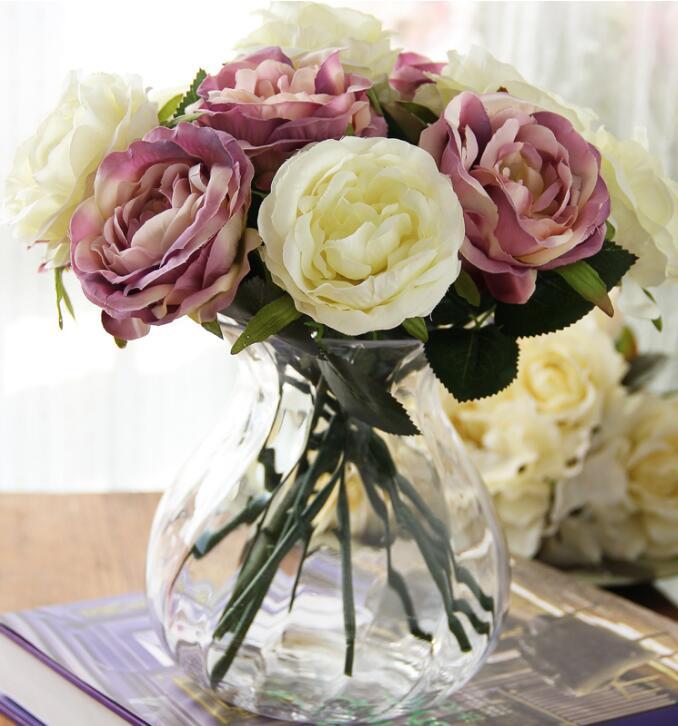 Acheter Décoratif fleur Belle rose fleur home decor pour salon fleur artificielle Bouquet Parti Décoration de flowers home decoration fiable fournisseurs