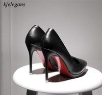 kjelegans 2018 fashion new style brand women pumps red bottom thin high heels elegant ladies office shoes zapatillas mujer