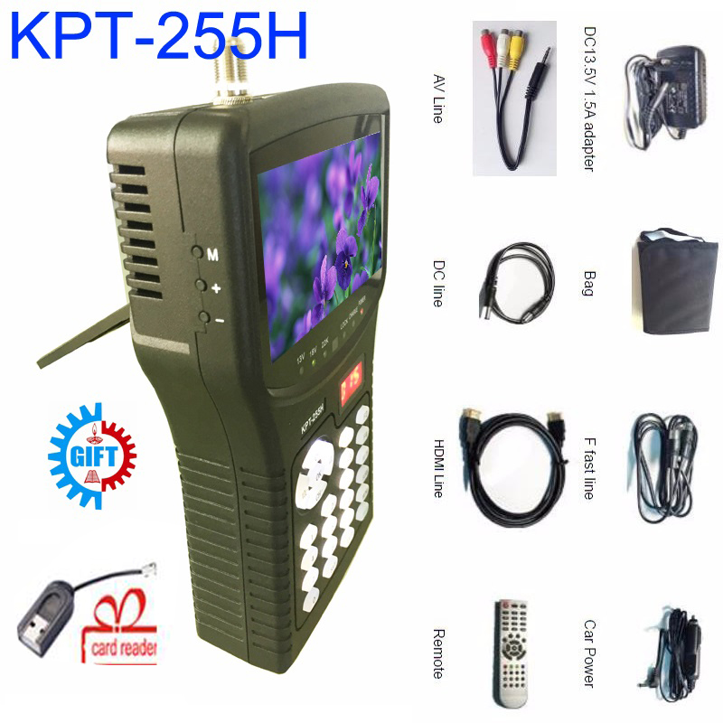 kpt-255h satellite finder Kpt-255h 4.3inch Tft Led Handheld satfinder dvb-s2 Signal sat finder satellite meter ws-6908 BY DHL