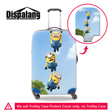 Cute Minions Thick Elastic Travel Luggage Protective Covers For 18-30 Inch Trolley Case Despicable Me Waterproof Suitcase Cover