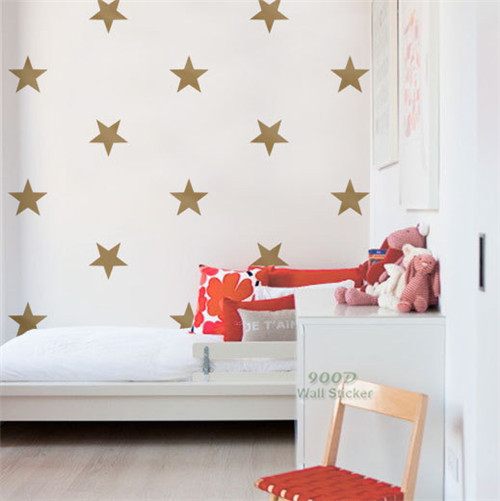 Gold Star Wall Sticker, Removable home decoration art Wall Decals ...
