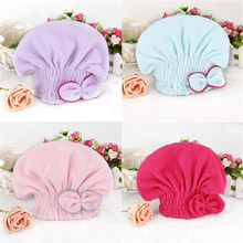 Soft Microfiber Hair Turban Quickly Dry Hair Hat Wrapped Towel Bathing Cap Hair Speed Dry Shower Cap 1 pc hair drying cap lovely solid color quickly dry hair hat