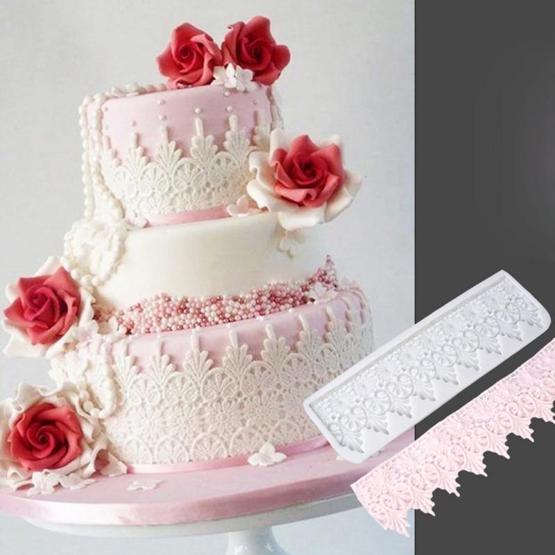 spitze kuchen muster silikonform fondantform kuchen dekorieren tools schokolade zuckermasse mold sugarcraft kche zubehr - Kuchen Muster