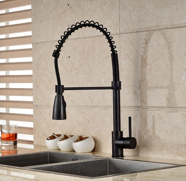 bronze kitchen faucet pull down washable rugs aliexpress com buy luxury oil rubbed spout single handle mixer tap