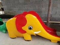 Экспортированы в Мьянме Экологичные детский сад Пластик слон слайд детей Детские площадки hz 7214i