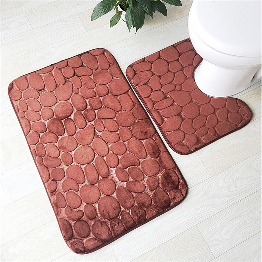 Kitchen Carpet Sets Outdoor Grill 1 Non Slip Suction Grip Bath Flannel Mat And U Type Pad Bathroom Doormats Decor 0920 A 487 In Toilet Seat Covers From Home Garden On