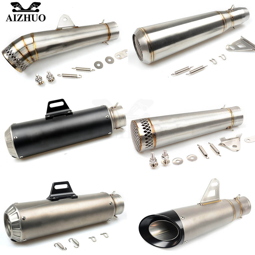 цена на 36-51MM Motorcycle Universal Exhaust Pipe Muffler FOR HONDA shadow 600 msx 125 cb 400 hornet cb600f KTM SupeR AdventuRe 1290