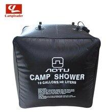 40L väljas must dušš veekott 10 gallon päikeseenergia soojendusega laagri dušikott PVC veekott telkimiseks reisimiseks matkamine CL020