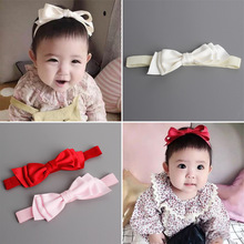 New Arrival little Girl Hair Band with three layers of Bowknot Cut Corners Cute Headband Kids
