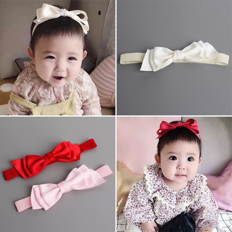 New Arrival little Girl Hair Band with three layers of Bowknot Cut Corners Cute Headband font