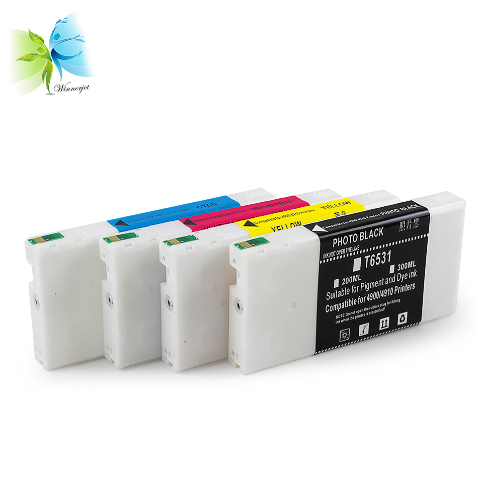 WINNERJET 200ml Compatible Disposable Ink Cartridge for Epson Stylus Pro 4900 4910 Printer in Ink Cartridges from Computer Office
