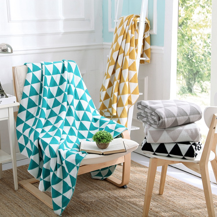 Incredible Us 39 99 Fashion Knitted Blanket Mosaic Geometric Soldier Sofa Throw Blankets Black White Blue 130X170Cm In Blankets From Home Garden On Uwap Interior Chair Design Uwaporg