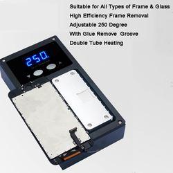 Najnowszy dla iPhone X rama środkowa ramka ekranu demontaż oddzielna płyta grzewcza maszyny do ramki LCD oddzielny klej usuń