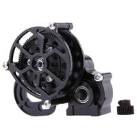 1pc Black 1 10 RC Crawler SCX10 All Metal Transmission Center Gearbox For 1 10 Axial