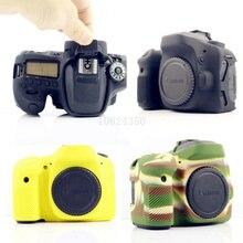 Красивые Мягкие Силиконовые Резина Камеры Защитный Чехол Чехол Кожи чехол сумка для Фотокамеры Объектив сумка для Canon 80D