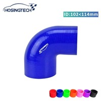 HOSINGTECH high quality 4.5 to 4 114mm to 102mm blue 90 degree reducer turbo hose