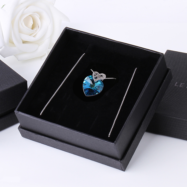 HTB1TrTlbrys3KVjSZFnq6xFzpXaE Blue Heart Crystal Pendant Necklace for Women