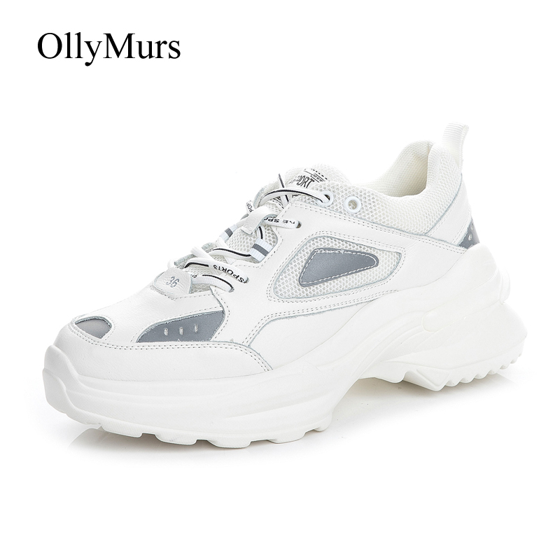 Turnschuhe Weiße Leder Mujer weiß De Patchwork Frühling Neue Beige Femme Chaussures Zapatos Echt Damen 2019 Schuhe Frauen Plattform Footware Prwrtf
